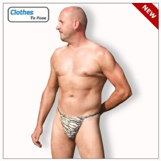 Mens Swim G String - Tiger Print